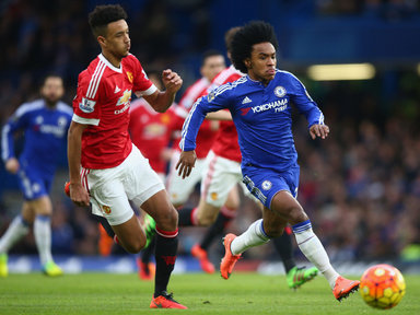 Borthwick-Jackson and Willian in action