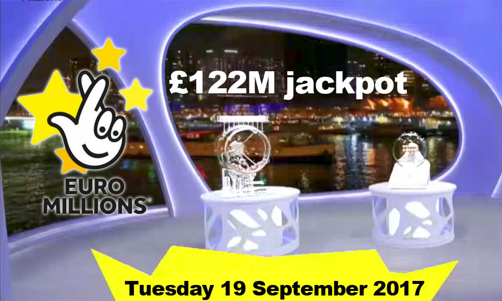 Results EuroMillions Draw 19 September 2016