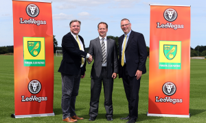 Online Casino LeoVegas signs shirt sponsor deal with Norwich City