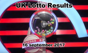 UK Lotto Draw 16 september 2017